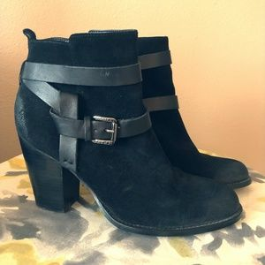 "Ivanka Trump""Filoer"" Black Suede Booties"